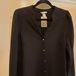 H&M blouse (NWT) with gold snaps